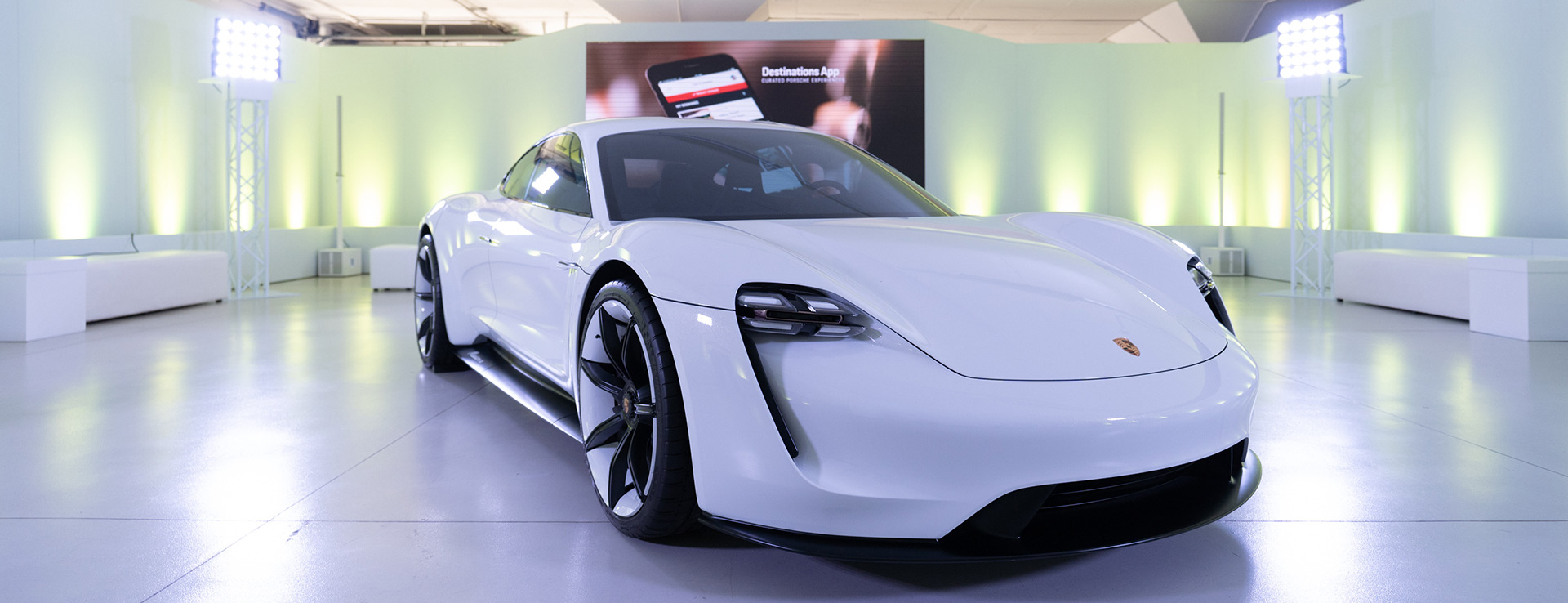 Porsche - Exclusive viewing of the Mission E concept car in South Africa.