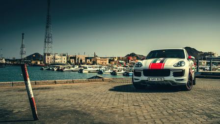 Porsche At Khorfakkan Corniche