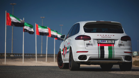Porsche The Cayenne Turbo embarks on a special road tour across the United Arab Emirates.