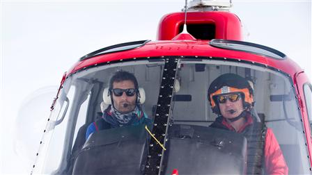 Porsche Mark Webber's helicopter training