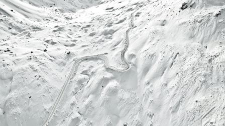 Porsche Snowy track