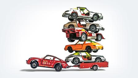 Porsche Diverse toy cars
