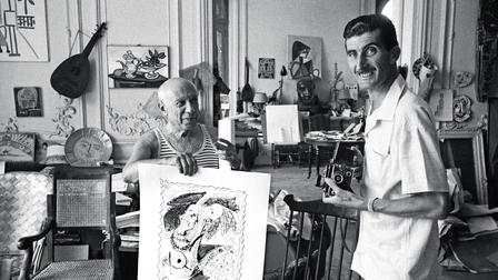 Porsche Pablo Picasso (l), Edward Quinn (r) (1956)
