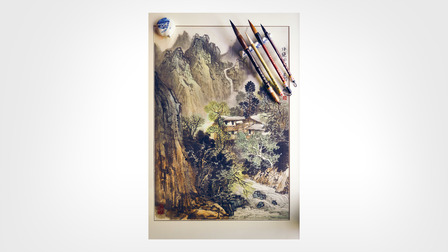 Painting of the Huangshan mountains