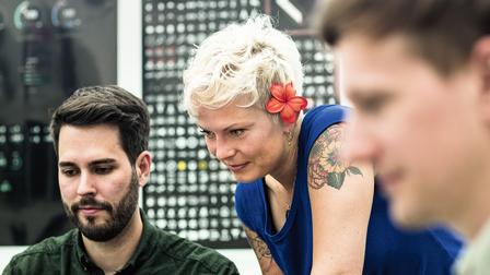 Daniel Zarges, Katja Schwerdtfeger, Kersten Stahl, designer (l.-r.)