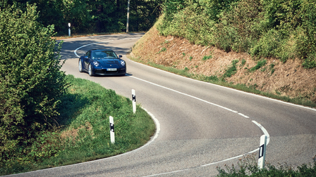 Porsche The new 911 on the way to Weissach