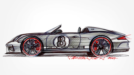 Porsche Sketch of the 911 Speedster