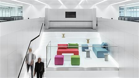 Porsche staircase, design studio