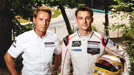 (l-r): Steffen Höllwarth and Earl Bamber, Porsche factory drivers