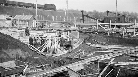 Porsche 1937: Beginn der Bauarbeiten Werk 1