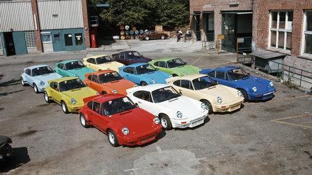 Porsche 1974: Im Hof vom Werk 1 stehen 12 911 Carrera RSR 3,0